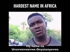 Namen Mit I - moeilijkste naam ter wereld in afrika