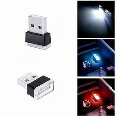 1 car usb led atmosphere lights decorative l