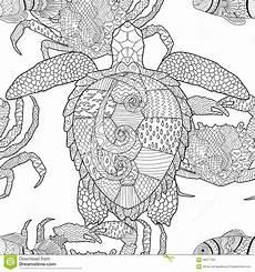 Ausmalbilder Tiere Muster 海洋动物zentangle无缝的样式 向量例证 插画 包括有 图象 海洋 乱画 愉快 样式 海运