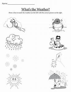 winter weather worksheets kindergarten 14603 quot what s the weather quot printable matching worksheet weather worksheets weather activities