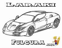 Laraki Fulgura SuperCars Coloring Sheet At YesColoring
