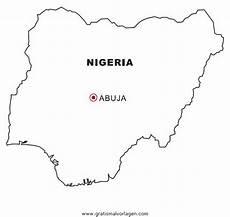 Malvorlagen Naija Nigeria Gratis Malvorlage In Geografie Landkarten Ausmalen
