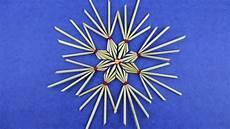 strohsterne aus strohhalme basteln deko ideen mit flora