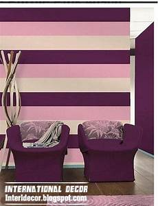 wohnzimmer streichen ideen streifen modern striped wall paints designs interior decorating