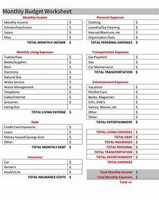 Apartment Living Expenses by Budgeting For Your Apartment Free Budget Worksheet