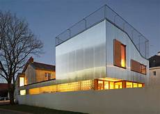cool house with corrugated aluminium facade and