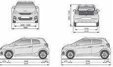 Peugeot 108 Dimensions Caract 233 Ristiques Techniques