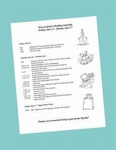 Wedding Day Itinerary putting together your wedding day itinerary