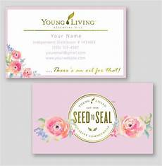 recipe card template for wix floral living essential oils business cards by