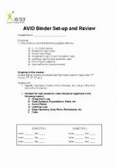 english worksheets avid binder check