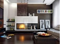 wohnzimmer mit kamin gestalten 43 ideen f 252 r w 228 rme