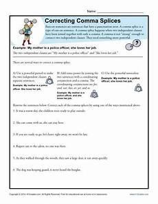 punctuation correction worksheets 4th grade 20950 correcting comma splices punctuation worksheets run on sentences grammar sentences
