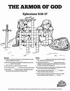 ephesians 6 the armor of god sunday school crossword puzzles ephesians 6 the armor of god sunday