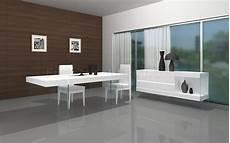 Fresh White Based Dining white finish modern dining table w glass base optional items