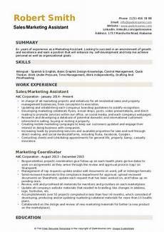 marketing assistant resume sles qwikresume