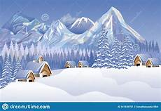 abstract vector merry christmas landscape house snow background wallpaper stock vector