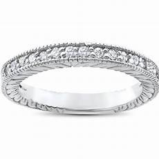 1 5ct heirloom diamond vintage wedding ring 14k white gold womens antique band ebay