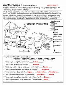 weather map worksheets 6th grade 14617 weather maps canada edition weather conditions and forecast practice