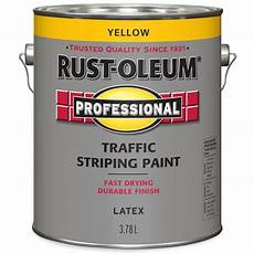 rust oleum professional traffic striping paint in yellow 3 78 l the home depot canada