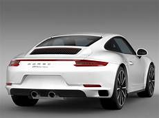 Porsche 911 4s Coupe 991 2016 3d Model Flatpyramid