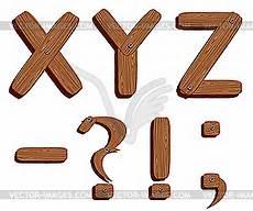 Buchstaben Malvorlagen Xyz Holz Buchstaben Xyz Vektorgrafik