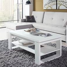 Table Basse Blanche Relevable Reena Taille L 110 X L