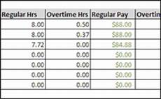 excel timesheet with overtime 8hr 40 hr easy