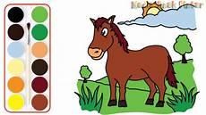 Menggambar Kuda Imut Di Padang Rumput Menggambar Dan