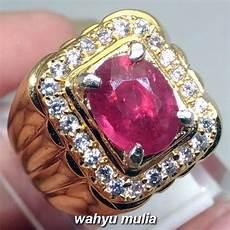 batu cincin permata merah ruby corundum asli kode 1099 wahyu mulia