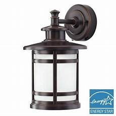 motion sensor outdoor light rubbed bronze wall lantern integrated led 6940500317632 ebay