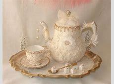 Vintage Tea Set, Opulent Victorian Marie Antoinette