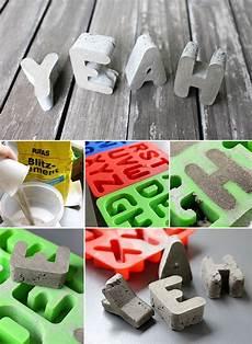 beton buchstaben selber machen betonbuchstaben handmade kultur