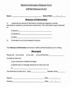 sle hipaa release form 8 exles in pdf word