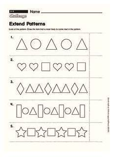 free pattern worksheets for 2nd grade 581 extend patterns worksheet for 1st 2nd grade lesson planet