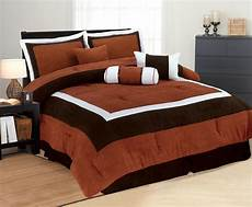 high quality micro suede comforter set bedding in a bag brick queen