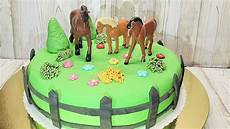 fondant selber machen pferde torte schokotorte