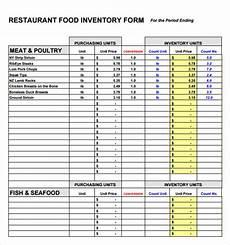 free 8 food inventory sles in pdf excel
