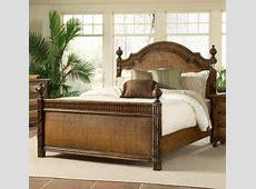 Catalina Wicker/Rattan Twin Panel Bed   Wicker bedroom