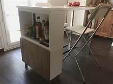 table haute ilot de cuisine de delphine l120 x l60 x h90cm