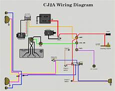 12v wiring diagram the cj2a page page 1