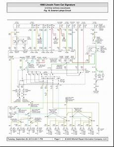 1998 Lincoln Town Car Signature System Wiring Diagrams