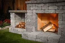 Schornstein Bausatz Stein - diy outdoor fireplace kit quot fremont quot makes hardscaping