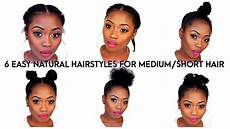 6 quick natural hairstyles for medium length 4b