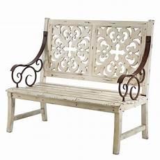 Gartenbank 2 Sitzer Holz - gartenbank ornament 2 sitzer holz home24 at