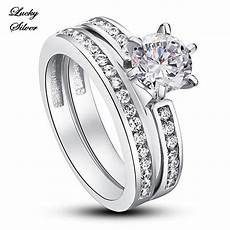 rings 1 carat solid 925 sterling silver bridal wedding engagement ring ls cfr8014