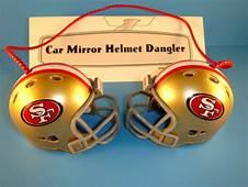 SAN FRANCISCO 49ERS CAR MIRROR NFL FOOTBALL HELMET DANGLER