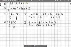 Aufstellen Parabelgleichungen Bei Zwei Gegebenen