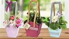 topfblumen als geschenk verpacken ideen mit herz wasserfeste taschen f 252 r pflanzen die