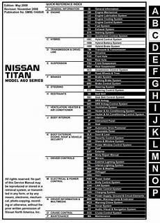 manual repair autos 1999 nissan frontier parking system nissan titan model a60 series 2009 service manual lan system pdf online download nissan
