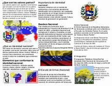 mapa mental de los simbolos naturales de venezuela triptico de los valores patrios de venezuela
